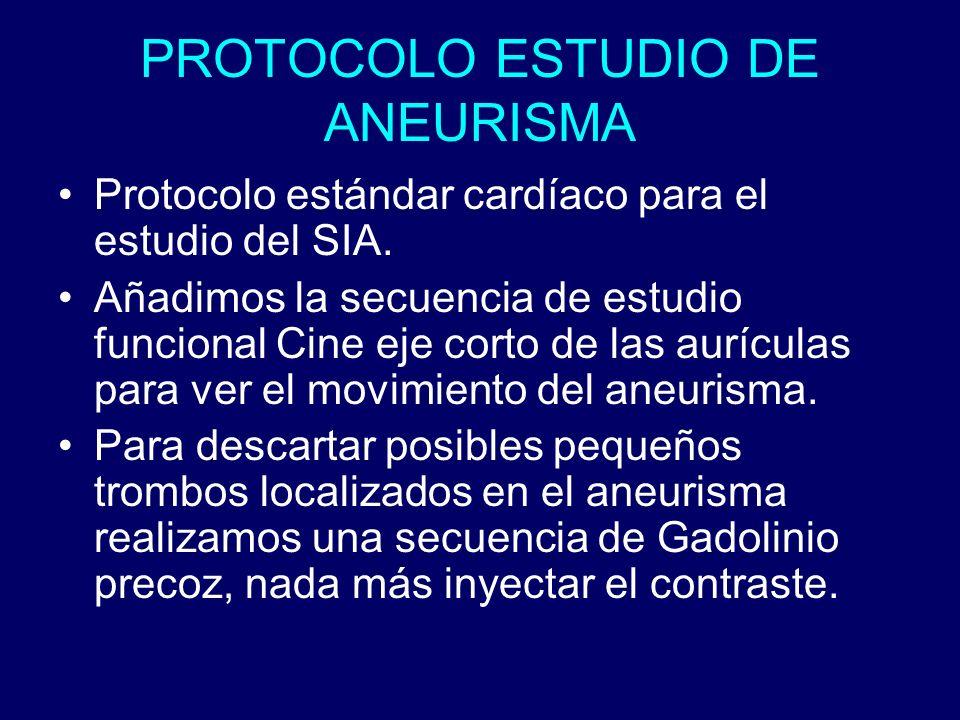 PROTOCOLO ESTUDIO DE ANEURISMA