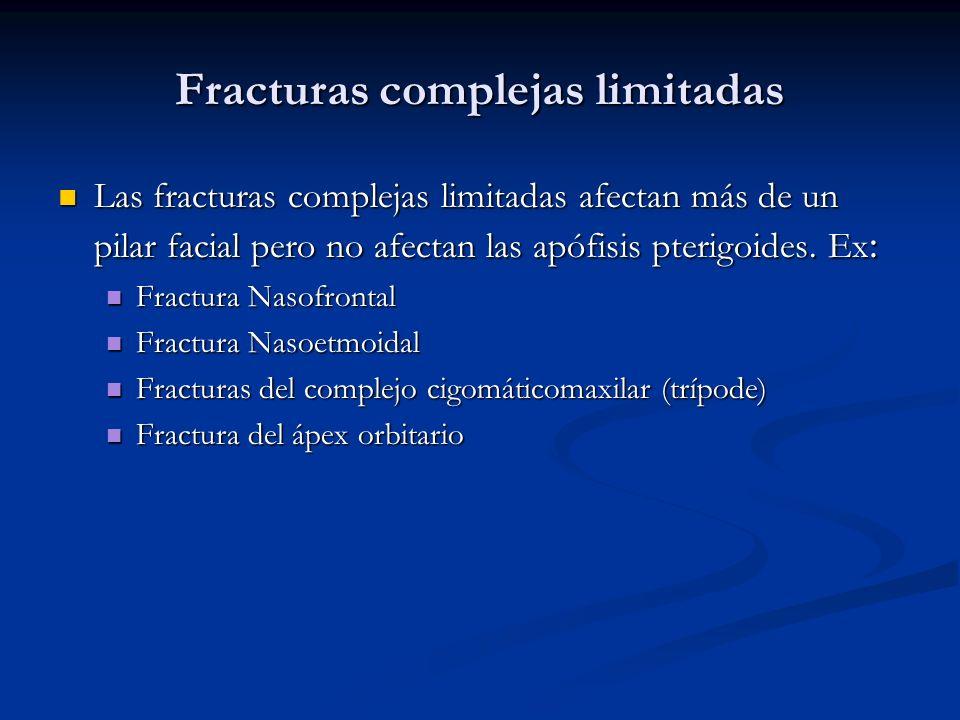 Fracturas complejas limitadas