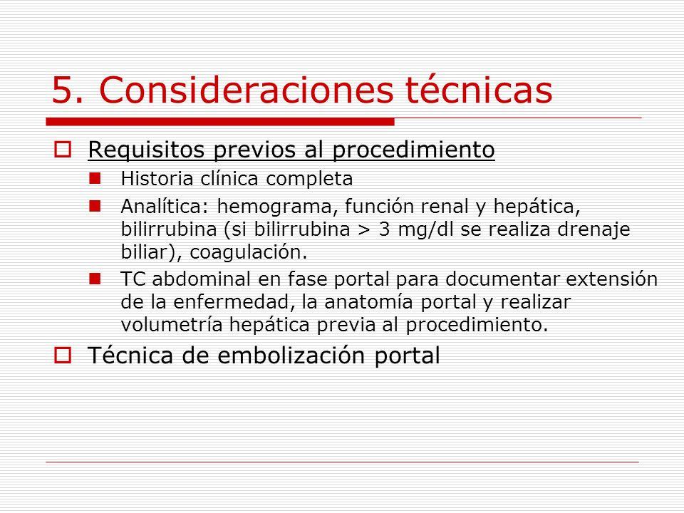 5. Consideraciones técnicas