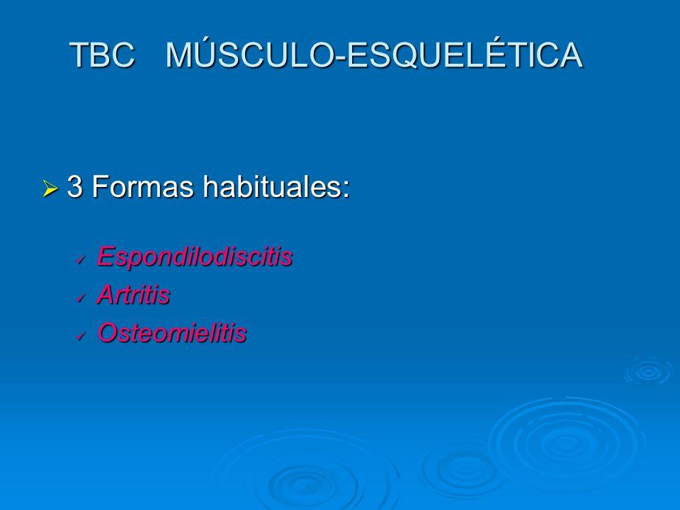 TBC MÚSCULO-ESQUELÉTICA