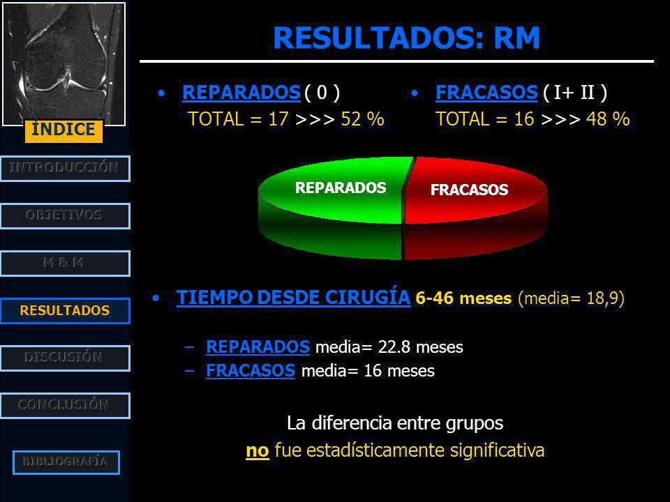 RESULTADOS: RM REPARADOS ( 0 ) TOTAL = 17 >>> 52 %