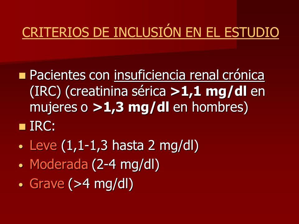 CRITERIOS DE INCLUSIÓN EN EL ESTUDIO