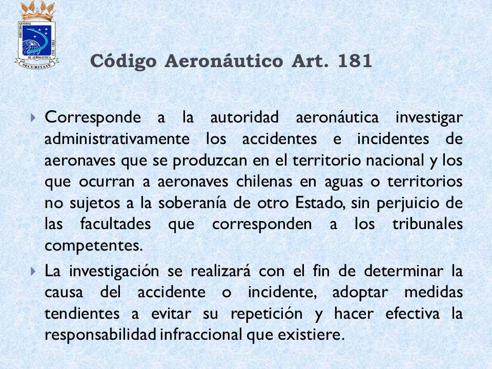 Código Aeronáutico Art. 181