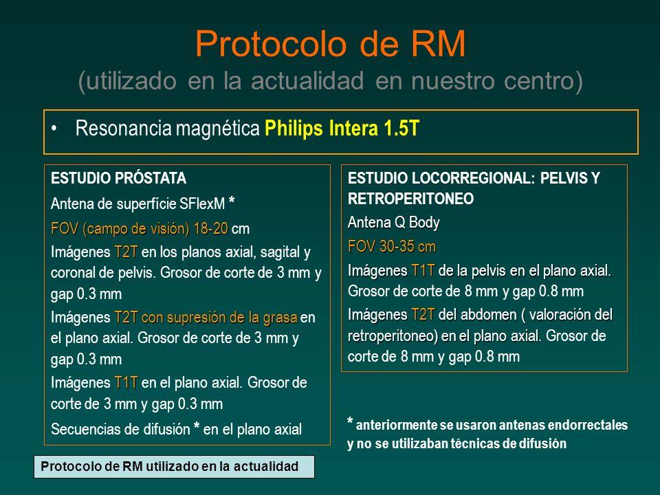 Protocolo de RM (utilizado en la actualidad en nuestro centro)