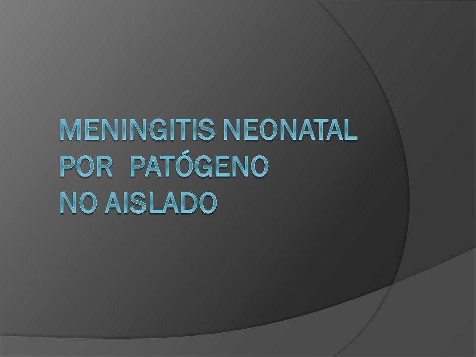 Meningitis neonatal por patógeno no aislado
