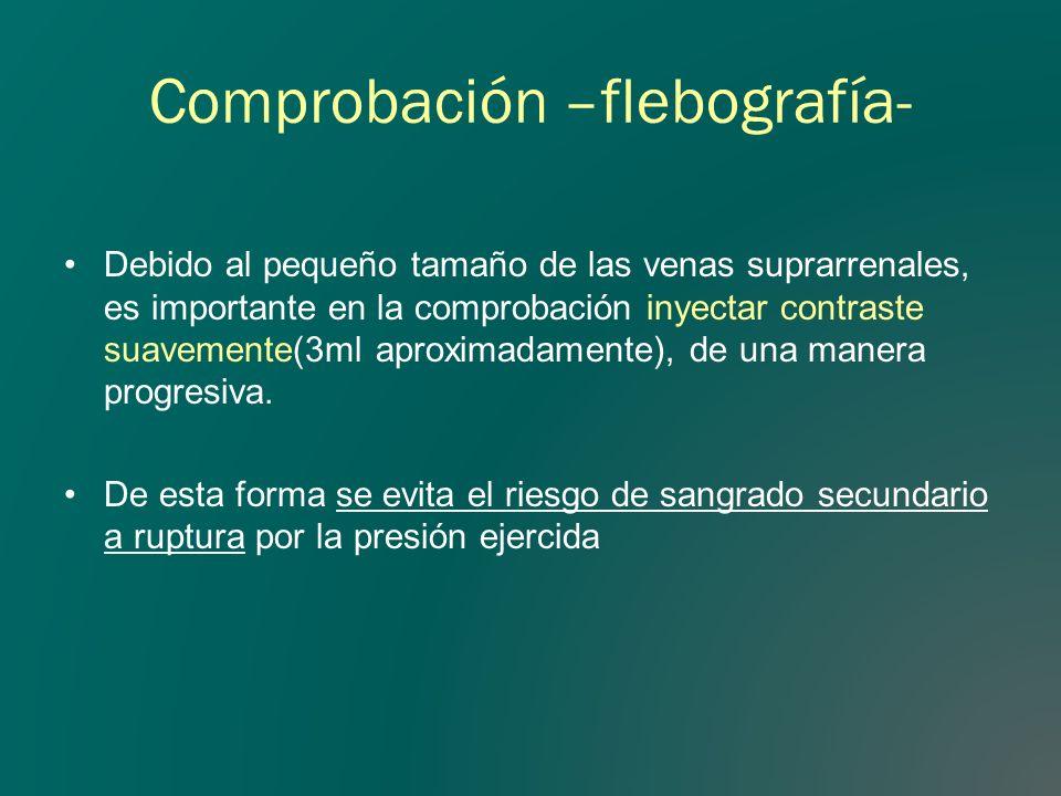 Comprobación –flebografía-
