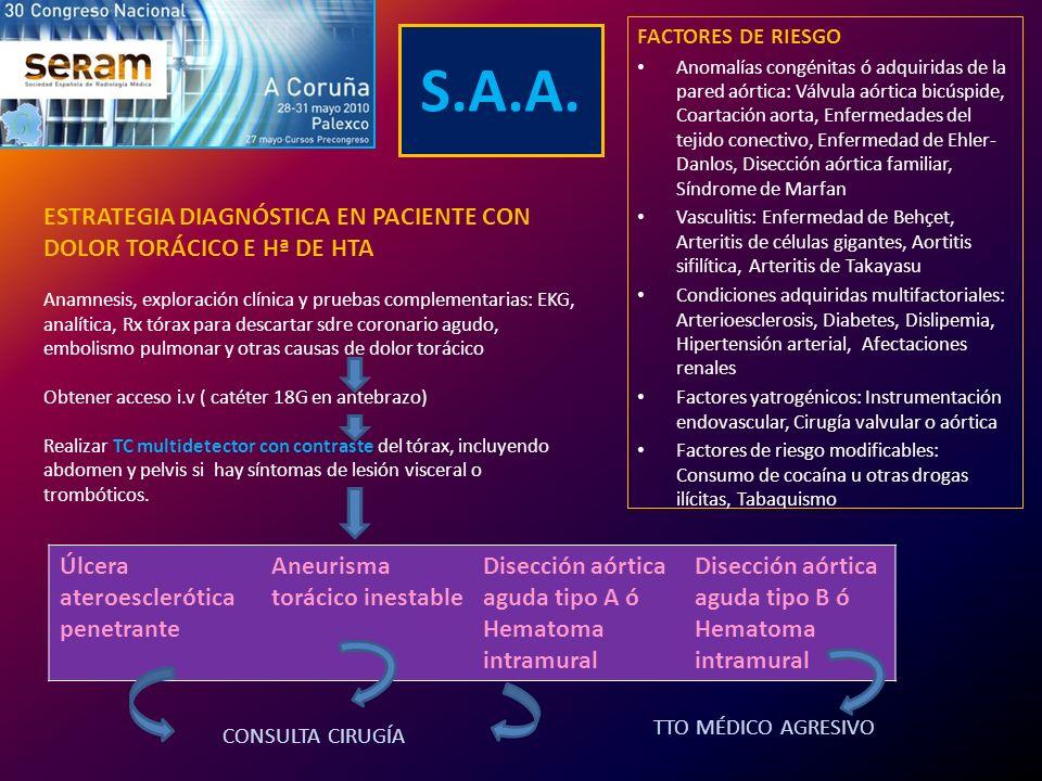 S.A.A. ESTRATEGIA DIAGNÓSTICA EN PACIENTE CON