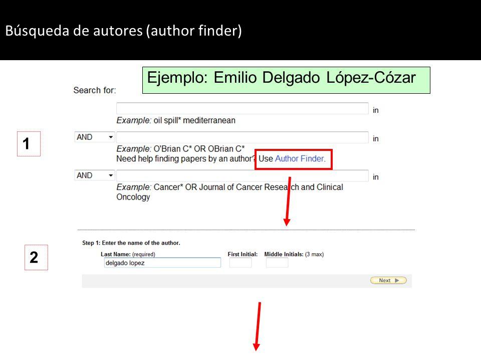 Búsqueda de autores (author finder)