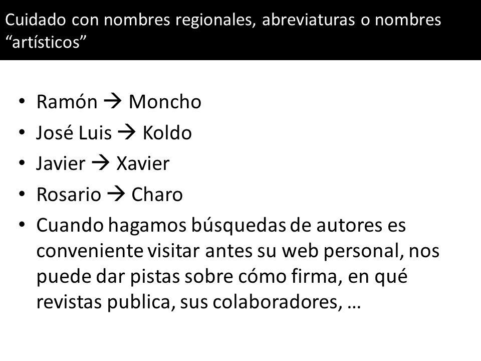 Ramón  Moncho José Luis  Koldo Javier  Xavier Rosario  Charo