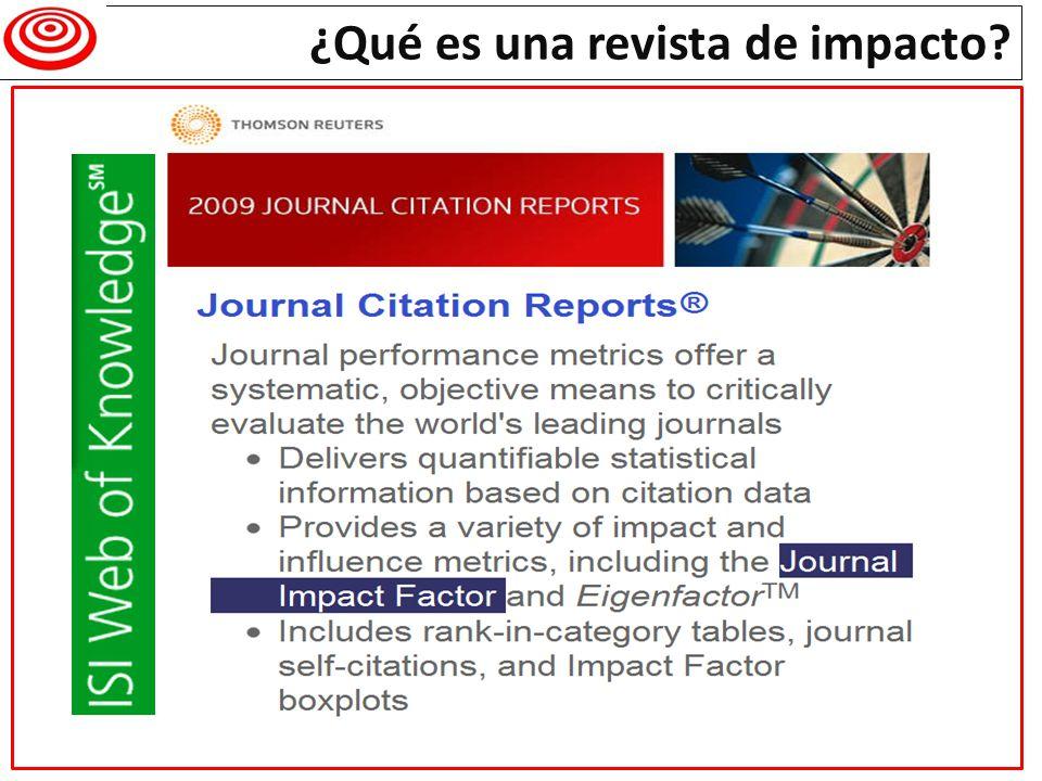¿Qué es una revista de impacto