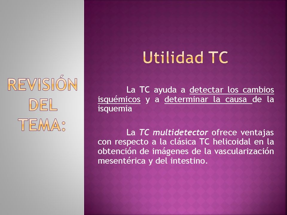 Utilidad tc REVISIÓN DEL TEMA: