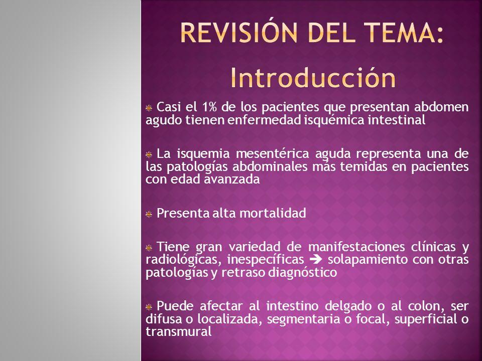 REVISIÓN DEL TEMA: Introducción