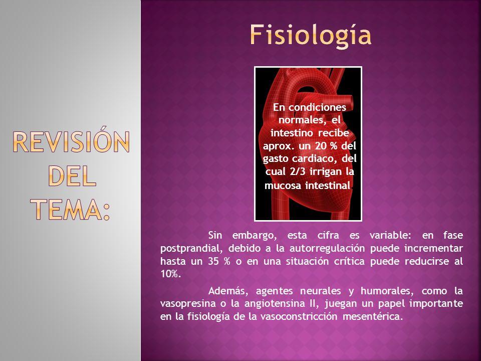 Fisiología REVISIÓN DEL TEMA: