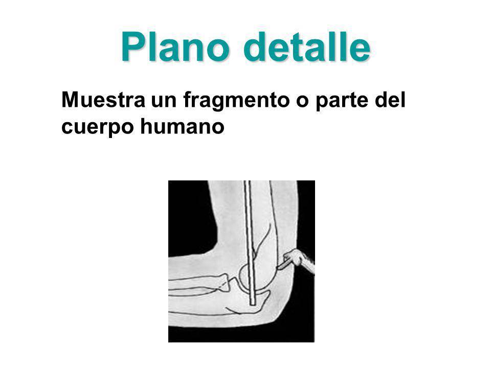 Plano detalle Muestra un fragmento o parte del cuerpo humano
