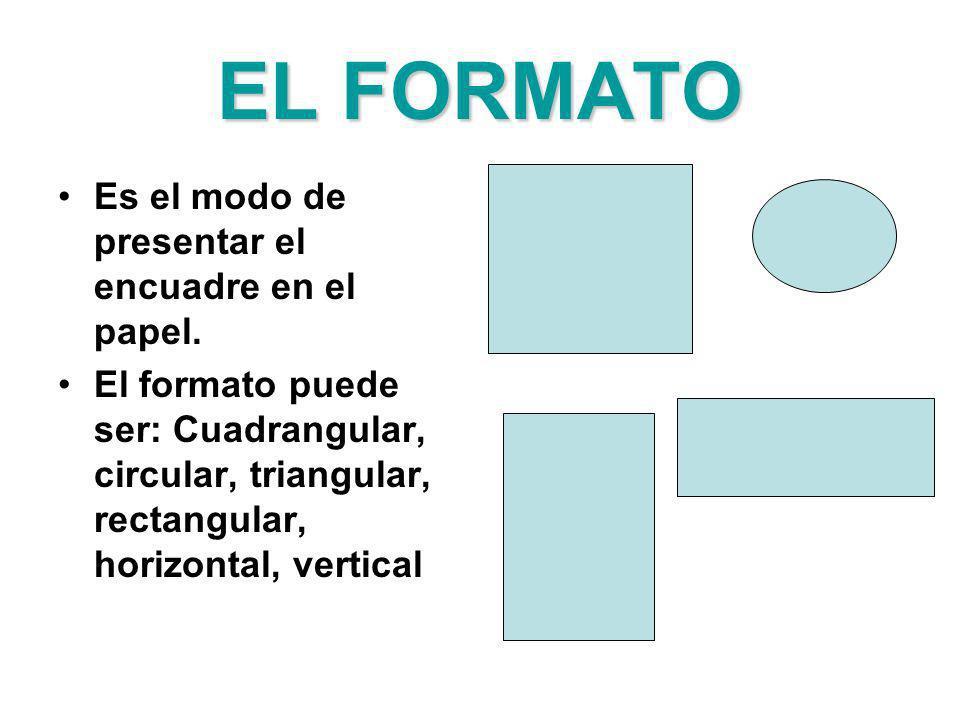 EL FORMATO Es el modo de presentar el encuadre en el papel.