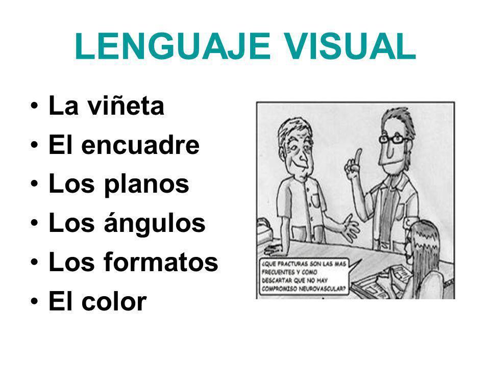 LENGUAJE VISUAL La viñeta El encuadre Los planos Los ángulos