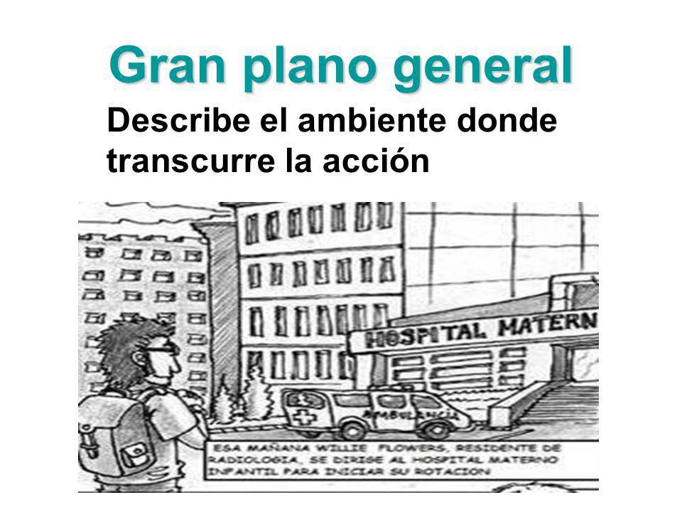 Gran plano general Describe el ambiente donde transcurre la acción