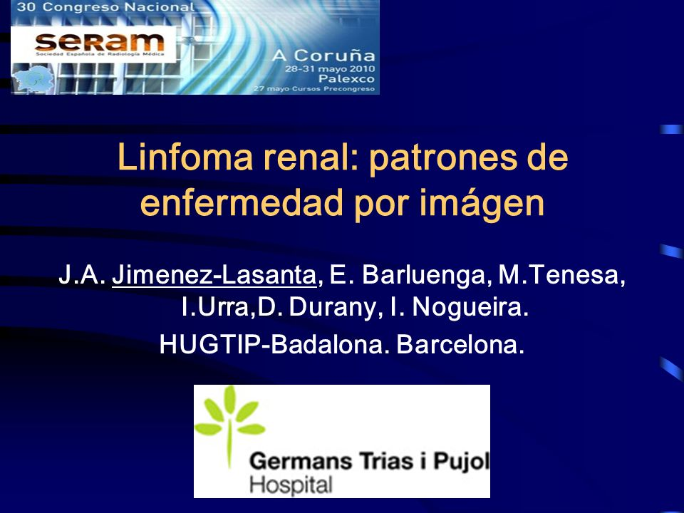 Linfoma renal: patrones de enfermedad por imágen