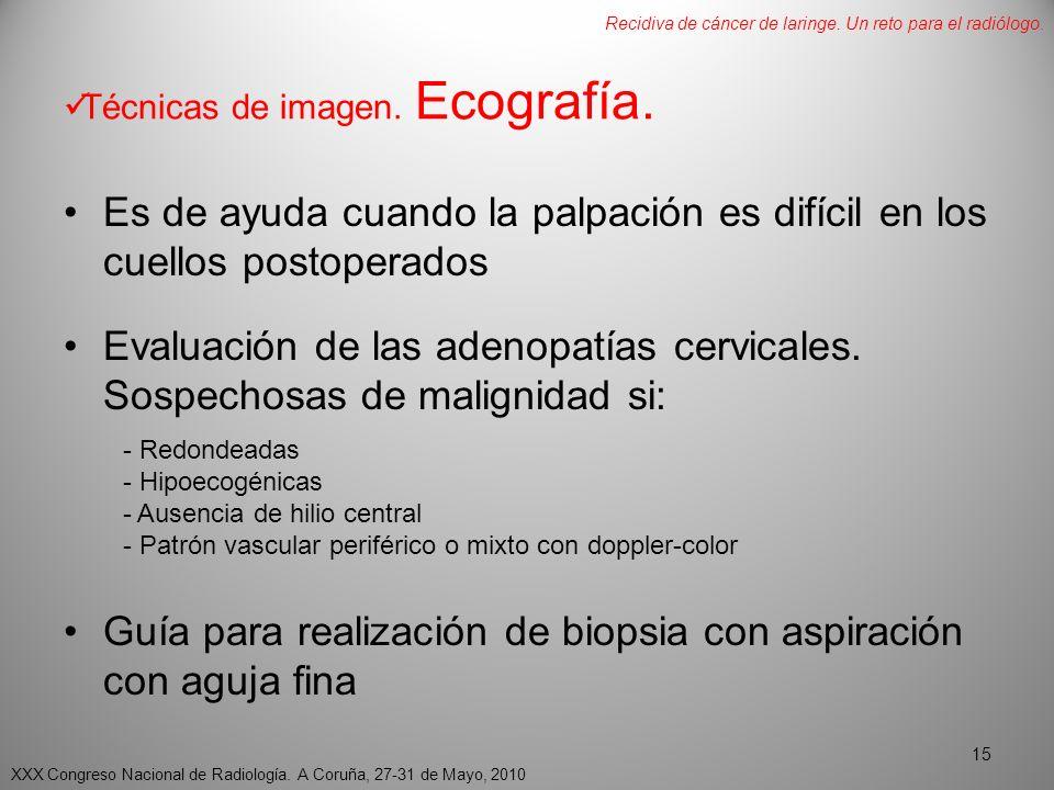 Técnicas de imagen. Ecografía.