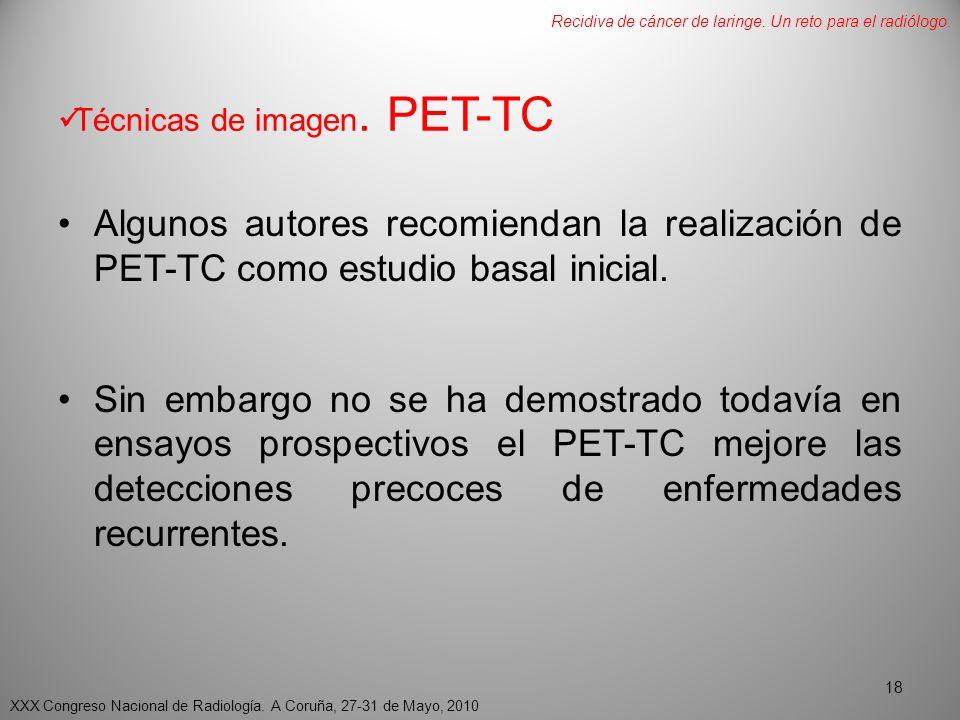 Técnicas de imagen. PET-TC