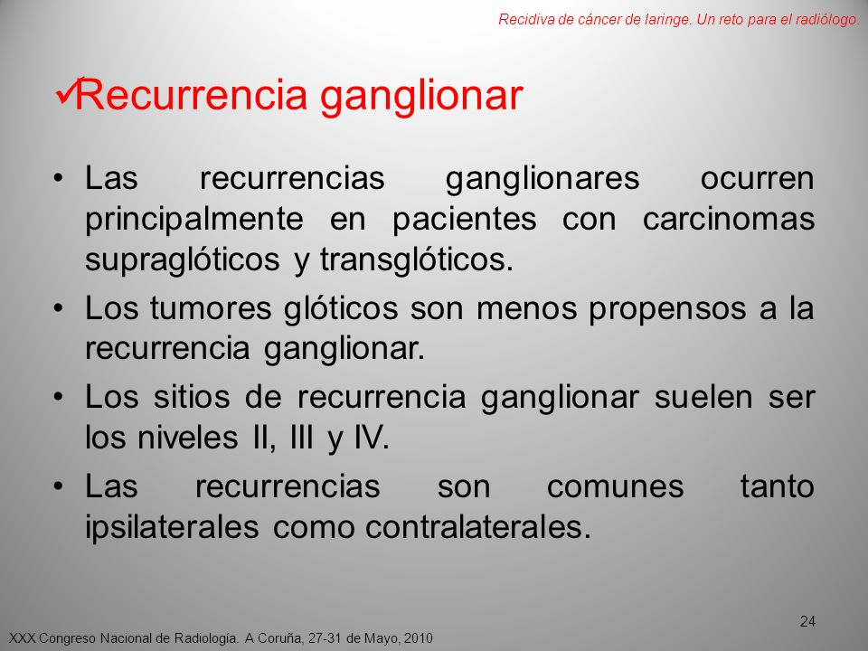 Recurrencia ganglionar