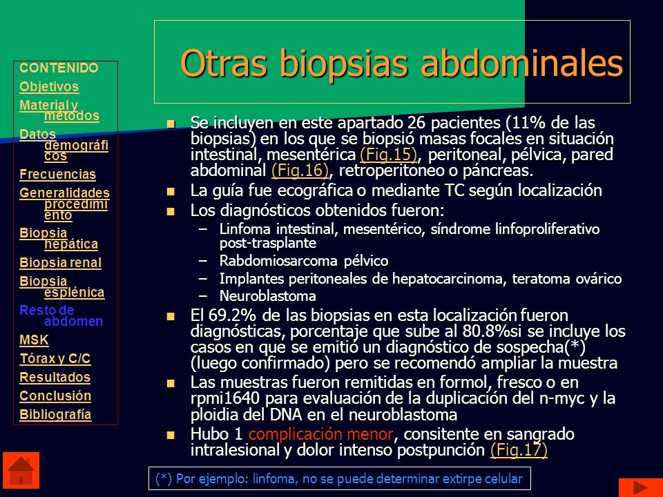Otras biopsias abdominales