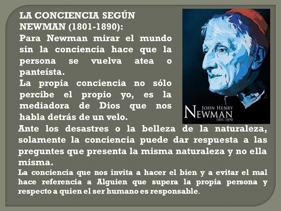 LA CONCIENCIA SEGÚN NEWMAN (1801-1890):