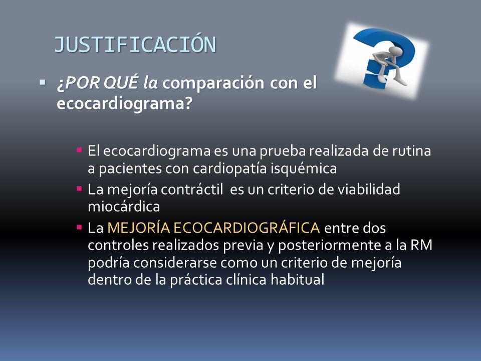 JUSTIFICACIÓN ¿POR QUÉ la comparación con el ecocardiograma