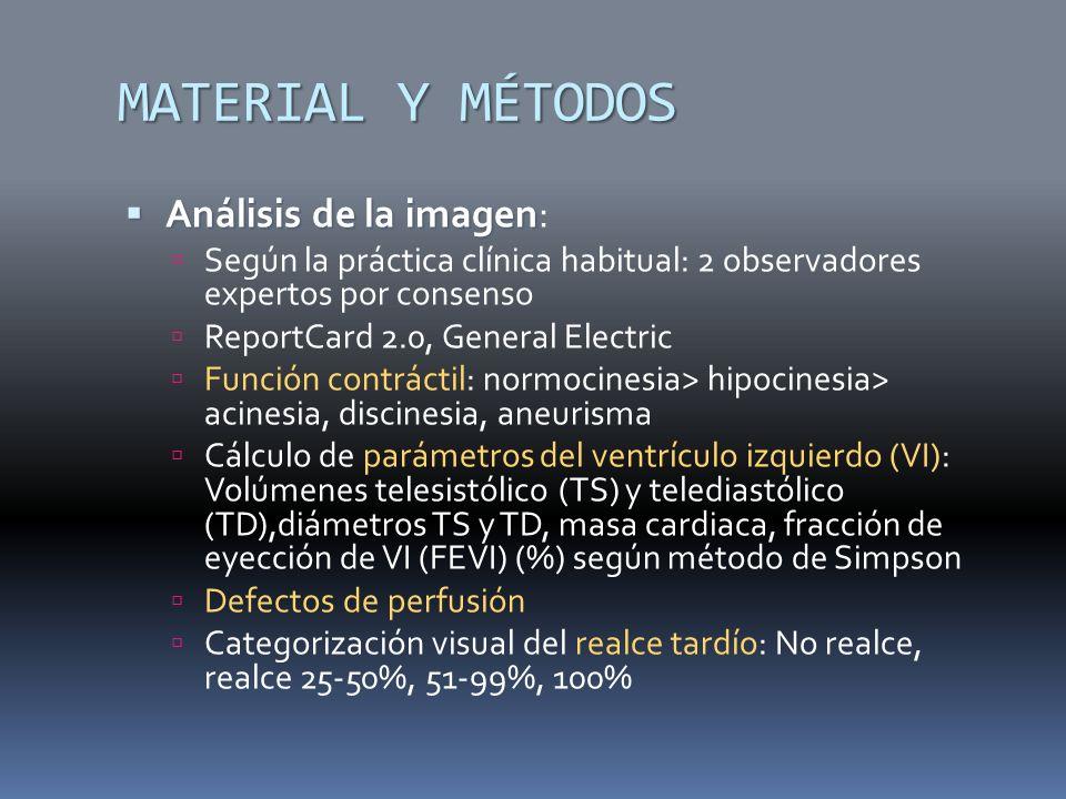 MATERIAL Y MÉTODOS Análisis de la imagen: