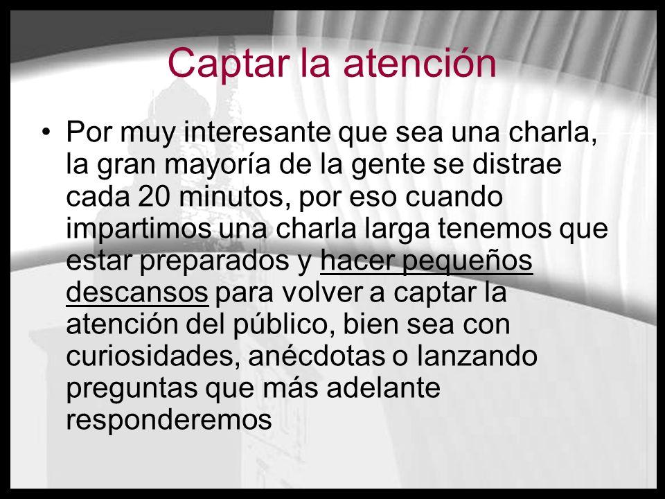 Captar la atención