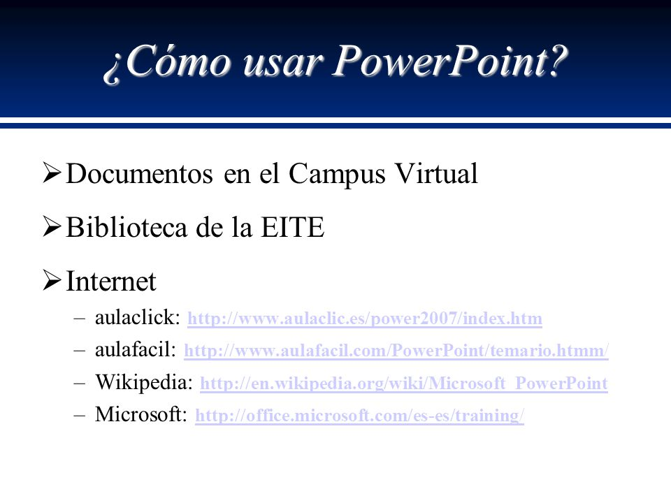 ¿Cómo usar PowerPoint Documentos en el Campus Virtual