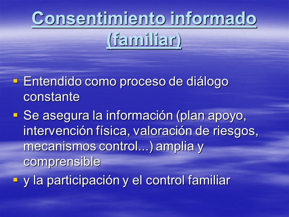Consentimiento informado (familiar)