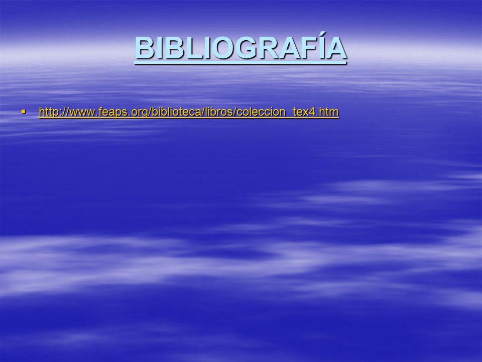 BIBLIOGRAFÍA http://www.feaps.org/biblioteca/libros/coleccion_tex4.htm