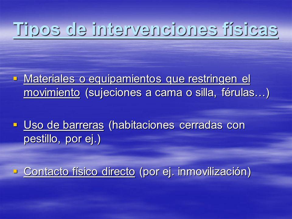 Tipos de intervenciones físicas