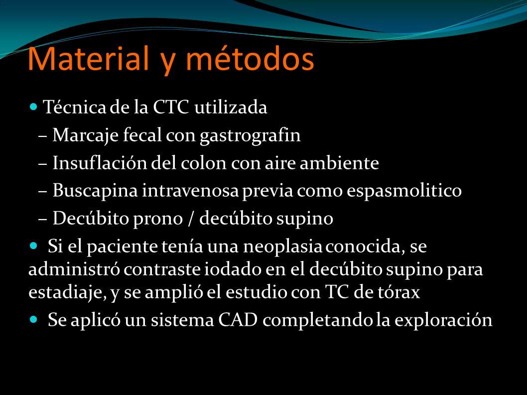 Material y métodos Técnica de la CTC utilizada