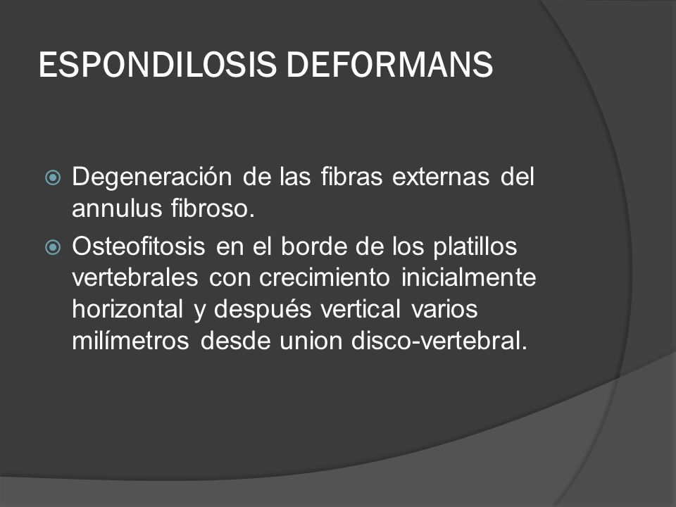 ESPONDILOSIS DEFORMANS