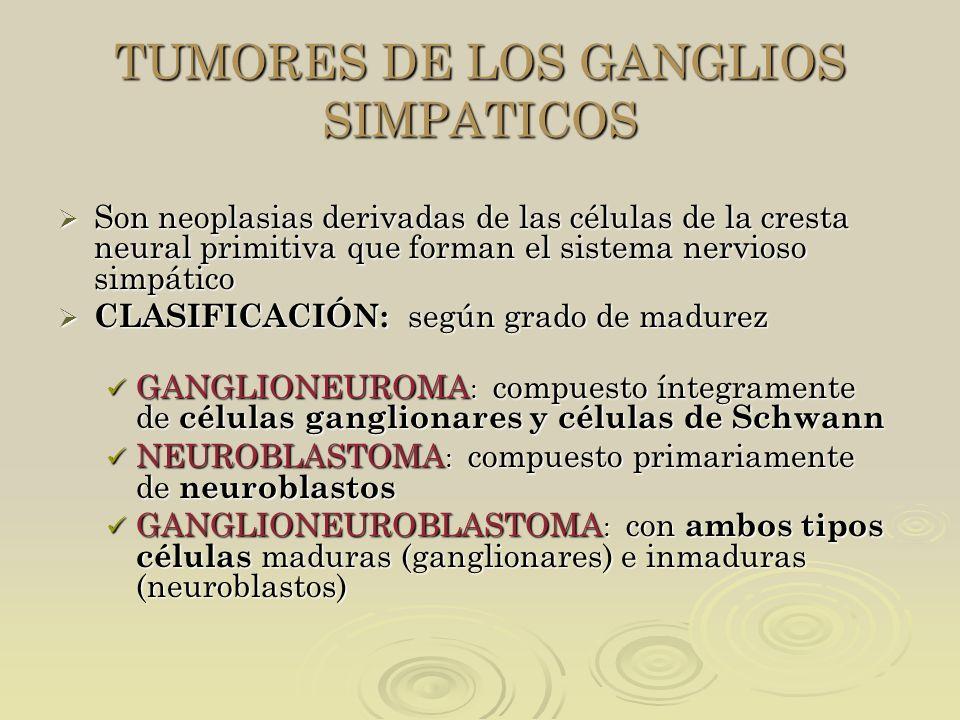 TUMORES DE LOS GANGLIOS SIMPATICOS