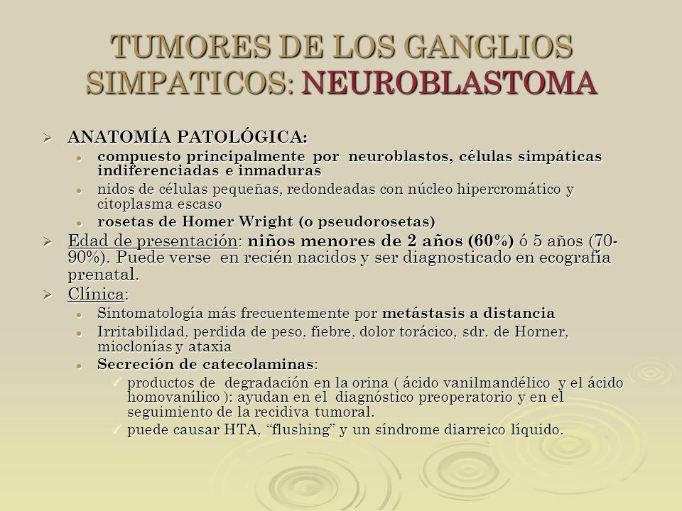 TUMORES DE LOS GANGLIOS SIMPATICOS: NEUROBLASTOMA
