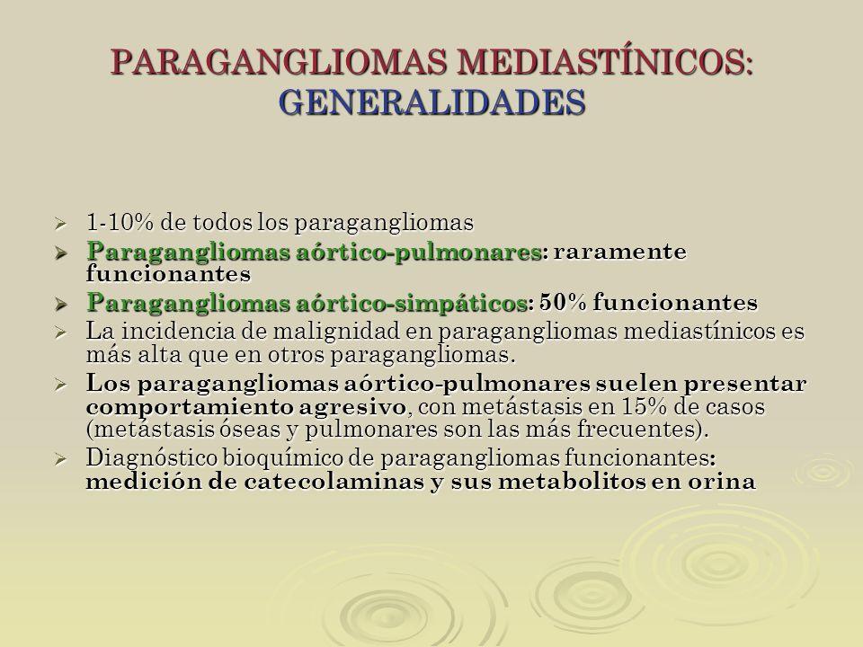 PARAGANGLIOMAS MEDIASTÍNICOS: GENERALIDADES