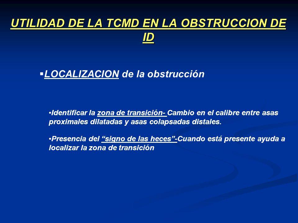 UTILIDAD DE LA TCMD EN LA OBSTRUCCION DE ID