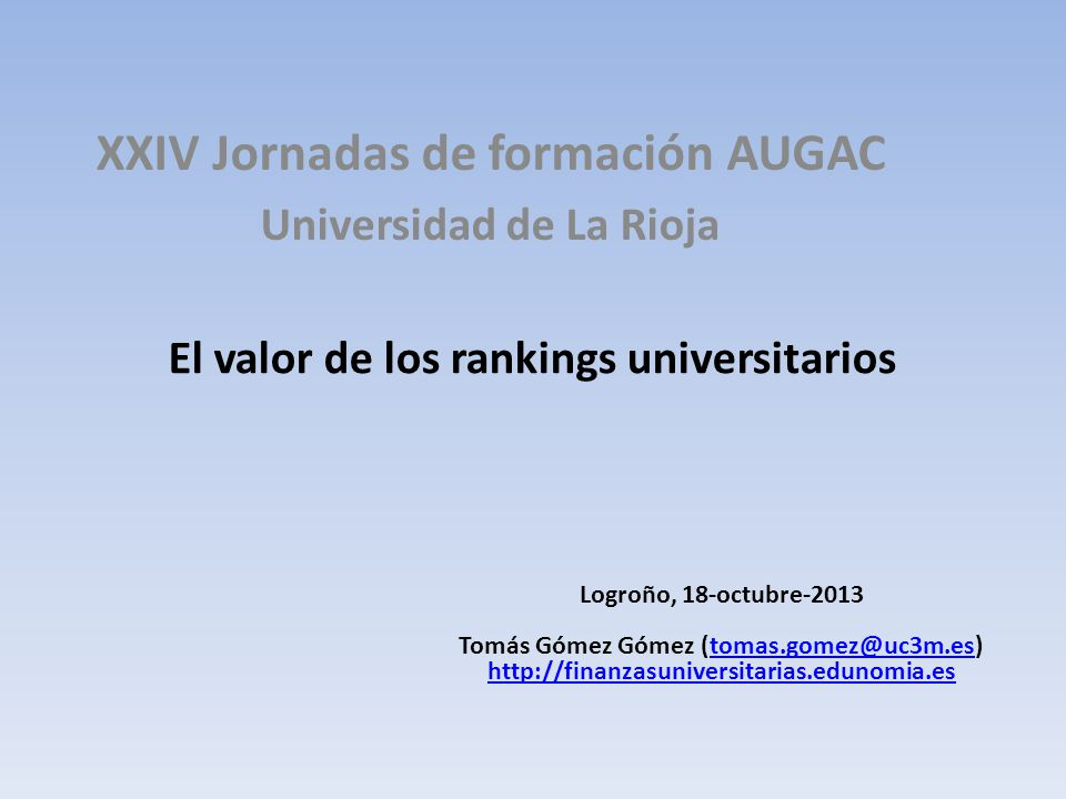 El valor de los rankings universitarios