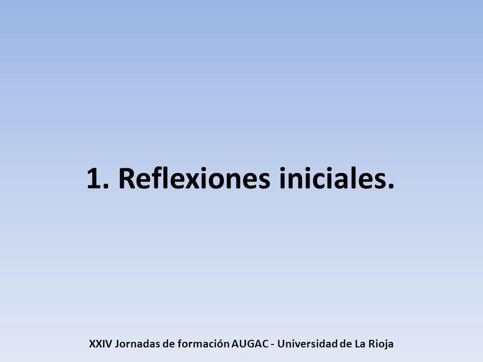 1. Reflexiones iniciales.