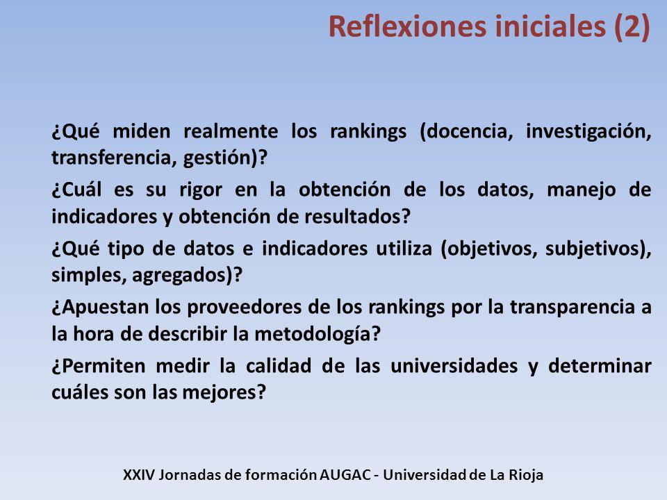 XXIV Jornadas de formación AUGAC - Universidad de La Rioja