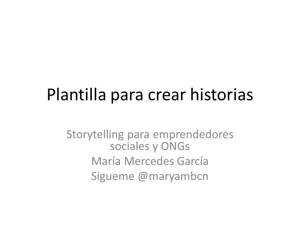 Plantilla para crear historias