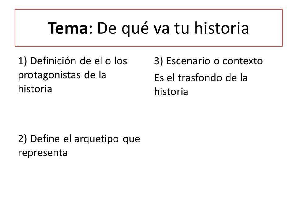 Tema: De qué va tu historia