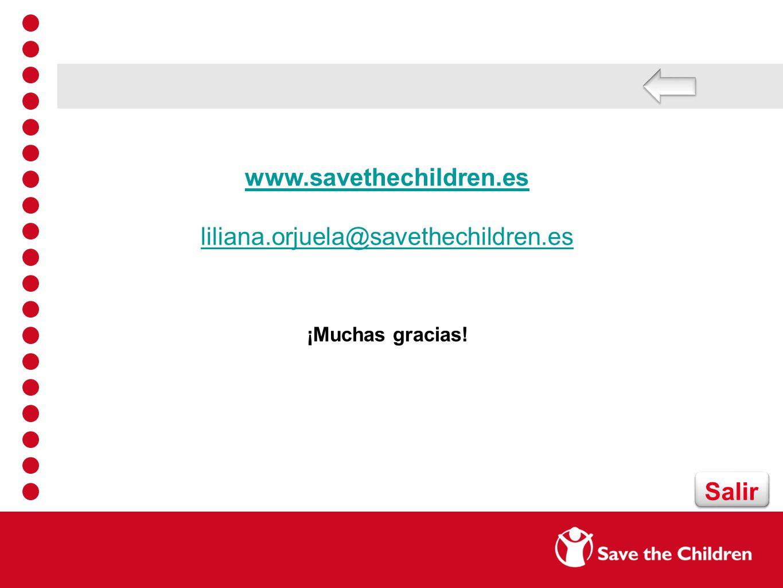 www.savethechildren.es liliana.orjuela@savethechildren.es Salir