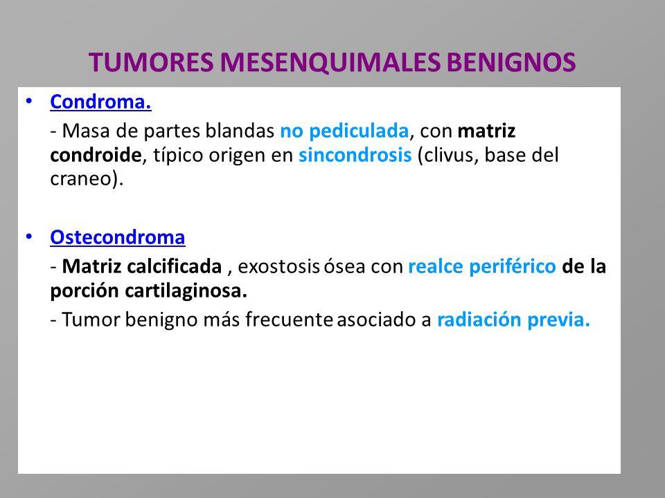 TUMORES MESENQUIMALES BENIGNOS