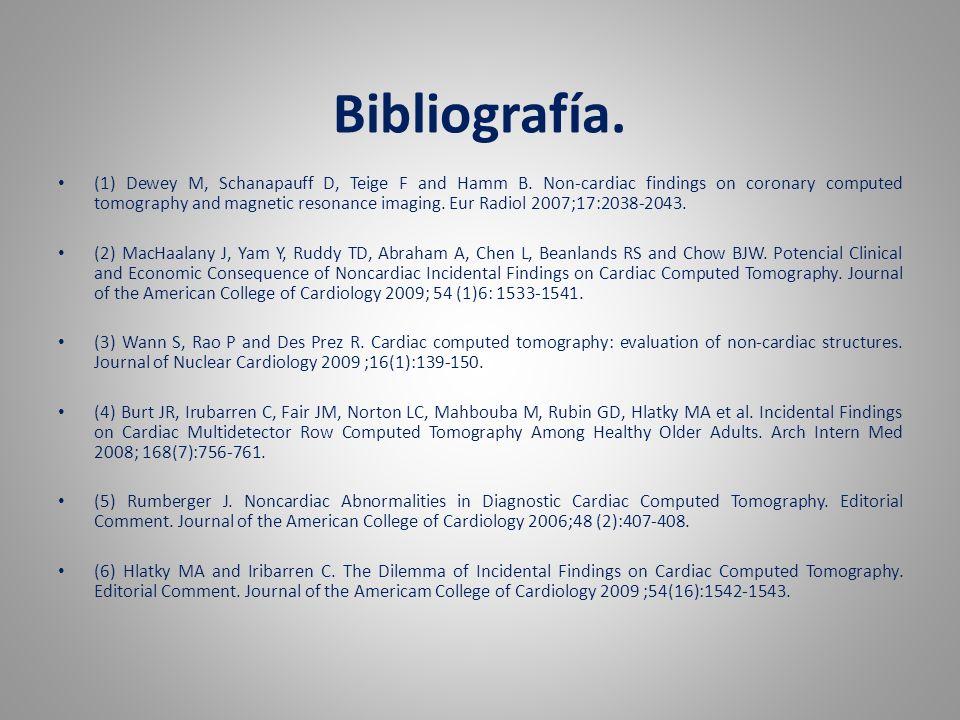 Bibliografía.