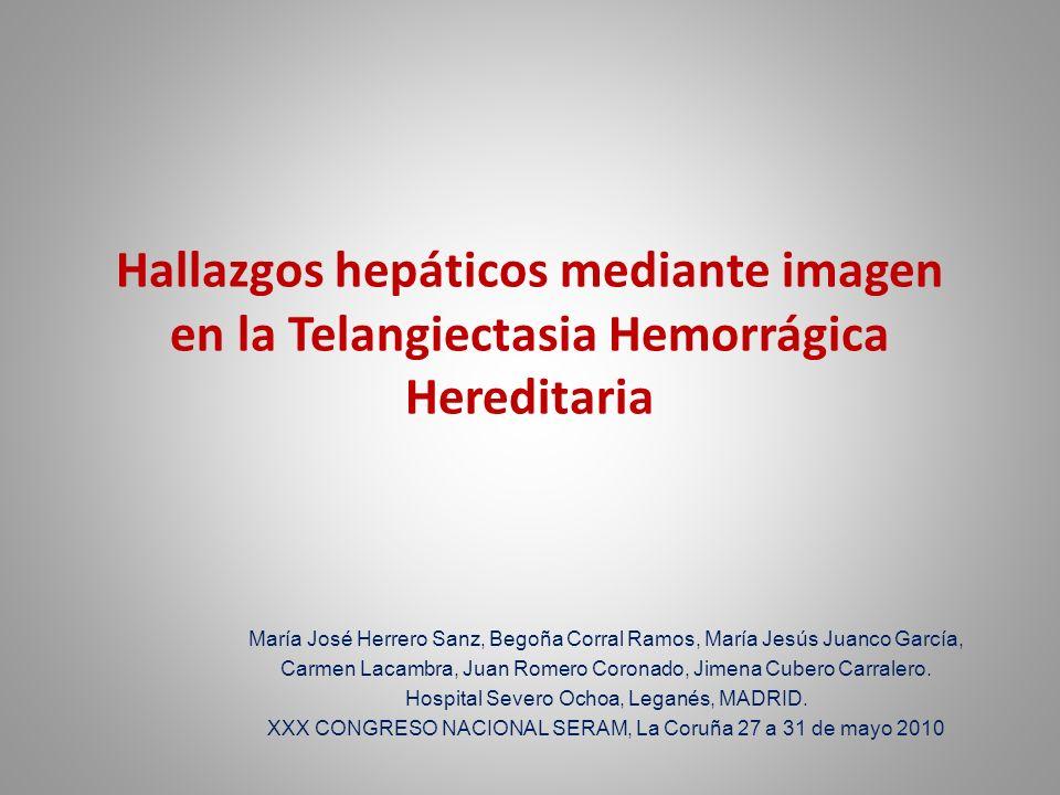 Hallazgos hepáticos mediante imagen en la Telangiectasia Hemorrágica Hereditaria