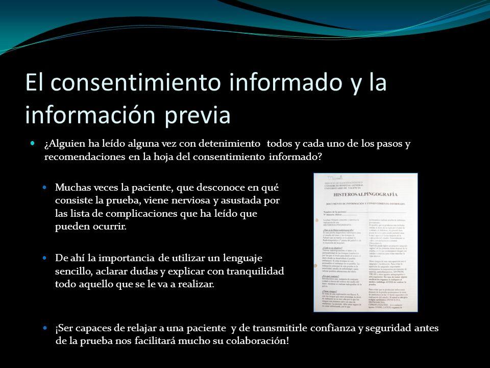 El consentimiento informado y la información previa